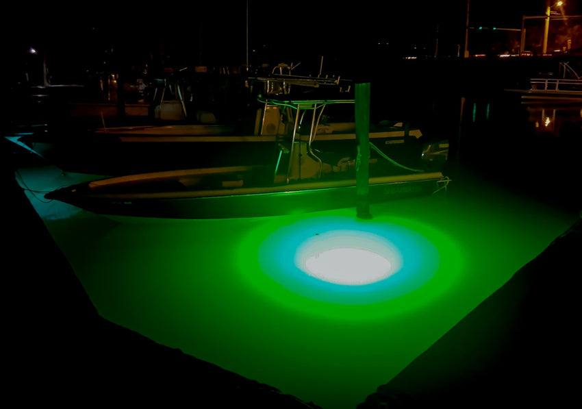 Green Submersible LED Underwater Lights Saltwater