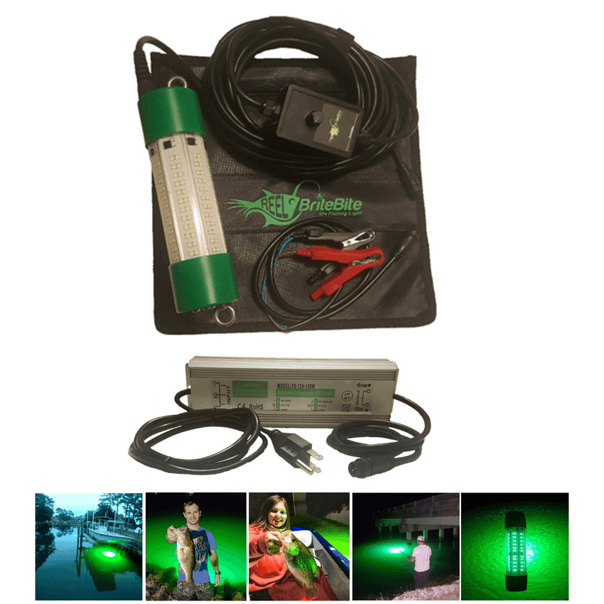 Green LED Fish attracting light with converter