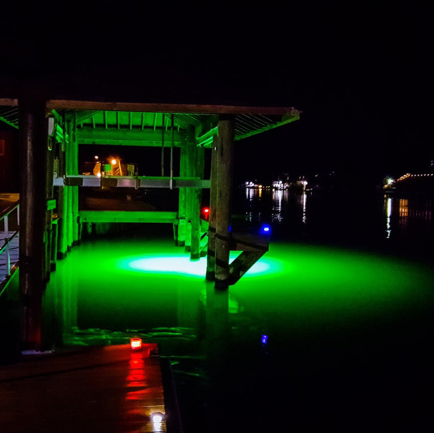 LED Underwater Dock Lights Green
