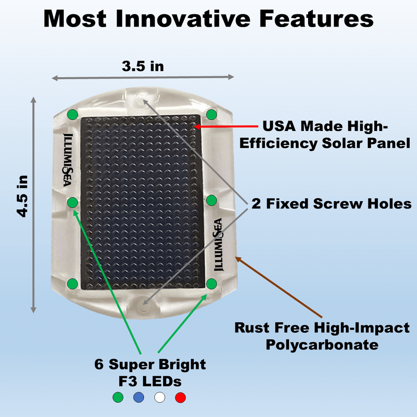 most innovative solar dock deck led lights