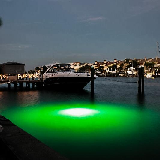 Submersible LED Underwater Lights Mega Watt Green