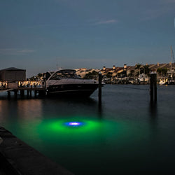 Luxury estate marine lighting system for docks, piers, ponds, and pools.