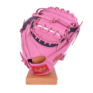 "Rawlings Heart of the Hide 34"" SMU Pink Catcher's Mitt PROCM43PB"