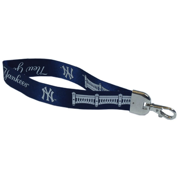 Navy One Size Pro Specialties Group MLB New York Yankees Carabineer Keychain