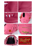 "Rawlings Heart of the Hide 12.5"" SMU Pink First Base Glove PROTM8SB-10P"