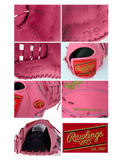 "Rawlings Heart of the Hide 13"" SMU Pink First Base Mitt PROFM19-17P"
