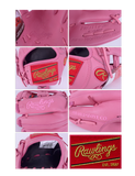 "Rawlings Heart of the Hide 11.5"" SMU Pink Baseball Glove PROTT2-20P"