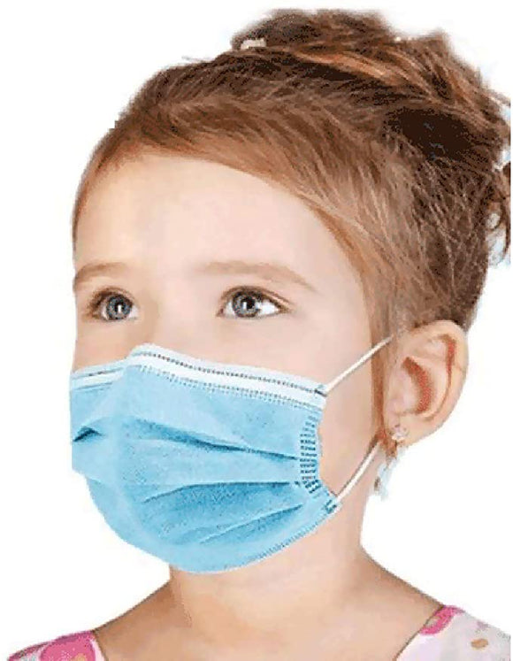 [100 PCS] DR.'S CLEAN Kids Blue Face Mask