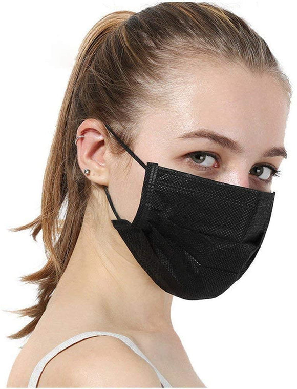 [100 PCS] DR.'S CLEAN Black Face Mask