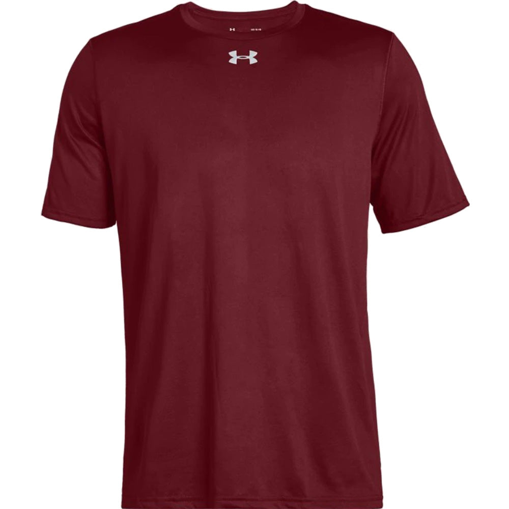 Under Armour UA Locker Short Sleeve Youth Athletic Tee Shirt NEW Red