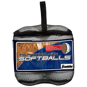 Franklin Sports Official League 4-Pack Softballs