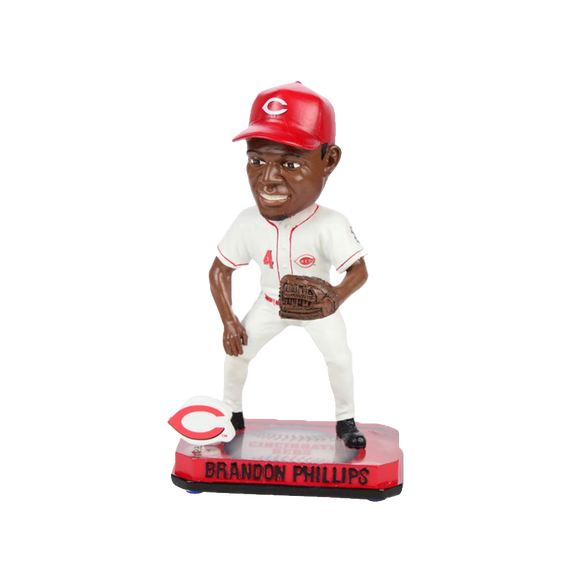 Forever Collectibles Brandon Phillips Reds Springy Logo Base Bobblehead HEH0514