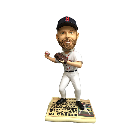 FOCO Dustin Pedroia Boston Red Sox Newspaper Bobblehead HEH0714