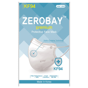 [Pack of 10] 4-Layers Premium Protective KF94 Certified Face Safety White Mask for Adult [Individually Packaged] [Made in KOREA]