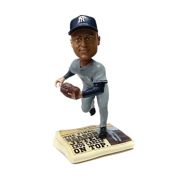 FOCO Derek Jeter Yankees Newspaper Base Bobblehead HEH0514