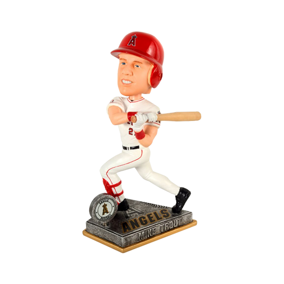 Forever Collectibles Trout Angels Springy Logo Action Bobblehead HEH1214