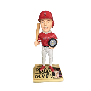 FOCO Mike Trout Newspaper Bobblehead HEH0115