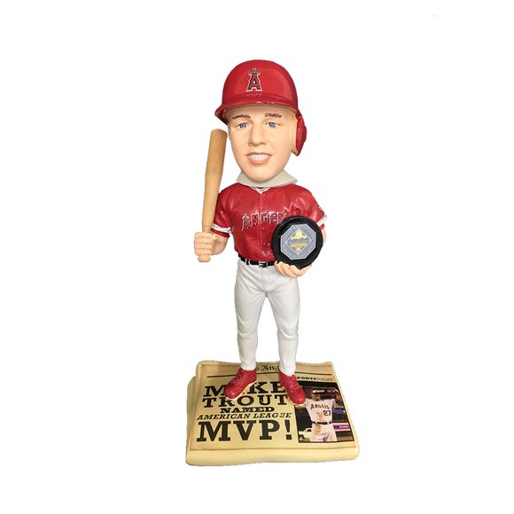 Forever Collectibles Mike Trout Newspaper Bobblehead HEH0115