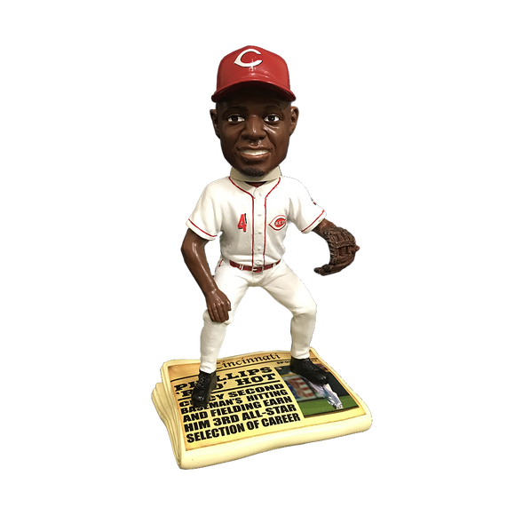 Forever Collectibles Brandon Phillips Reds Newspaper Bobblehead HEH0514