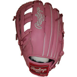 "Rawlings Heart of the Hide 12.75"" SMU Pink Baseball Glove GKW8H3030-6"