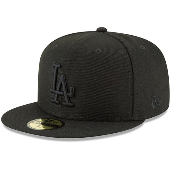 New Era Dodgers Black Primary Logo 59FIFTY Hat
