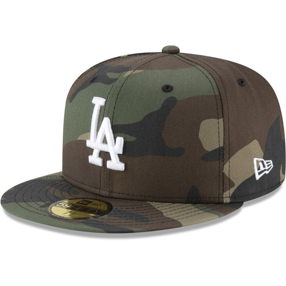 New Era Dodgers Woodland Camo Basic 59FIFTY Hat