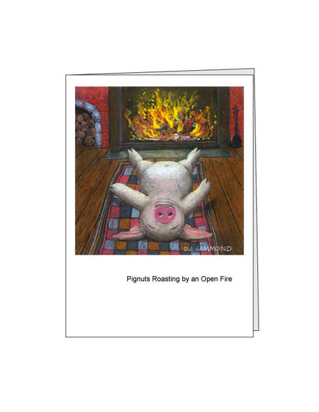 Notecard: Pignuts Roasting by an Open Fire