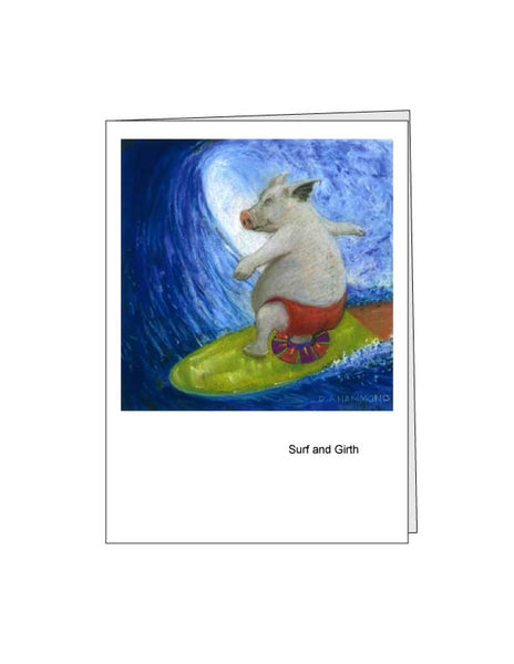 Notecard: Surf and Girth