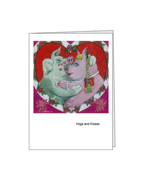 Notecard: Hogs and Kisses
