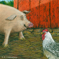 Framed print: Swine Flue Meets Chicken Pox