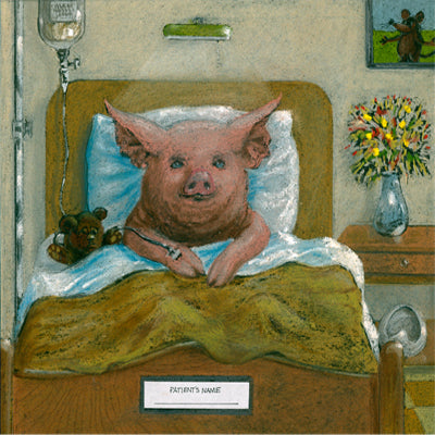 Matted Large Print: Hey You Lovable Little Piggy, Get Well Soon