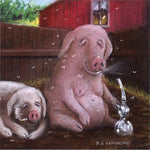 Matted Mini Print: Why They're Called Pot Belly Pigs