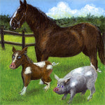 Matted Mini Print: Why Pigs and Horses Shouldn't Cohabitate