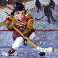 Matted Large Print: Bobby Boar Steals the Puck