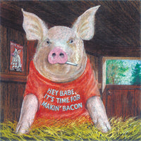 Framed print: Male Chauvinist Pig