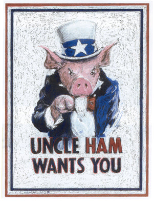 Framed print: Uncle Ham Wants You