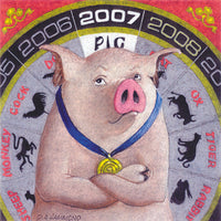 Framed print: 2007, The Year of the Pig