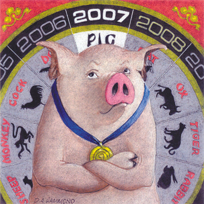 Matted Mini Print: 2007, the Year of the Pig