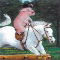 Matted Large Print: Riding Piggyback