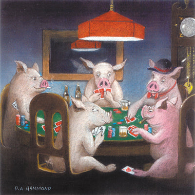 Framed print: Pigs Play Porker