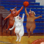 Matted Large Print: White Pigs Can't Jump