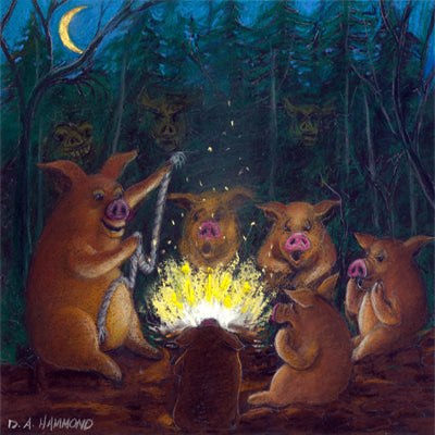 Matted Large Print: Telling a Scary Pig Tale