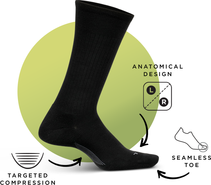Men's Everyday - Targeted Compression, Anatomical Design, Seamless Toe