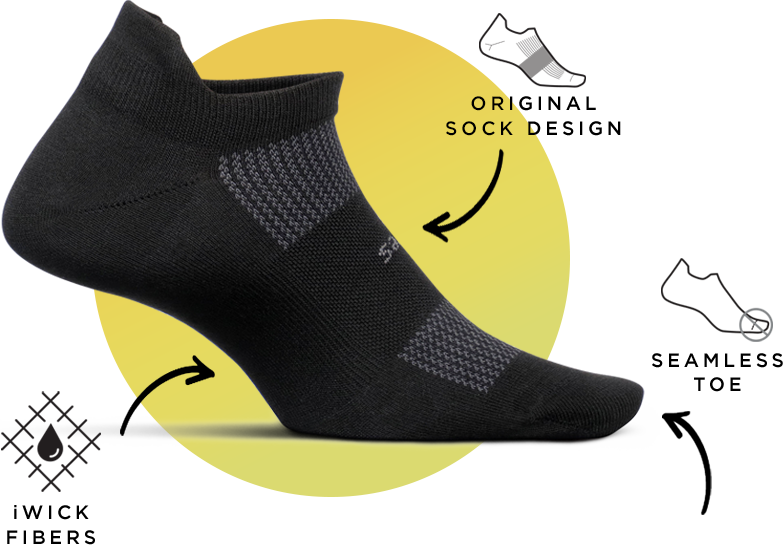 High Performance - Original Sock Design, iWick Fibers, Seamless Toe
