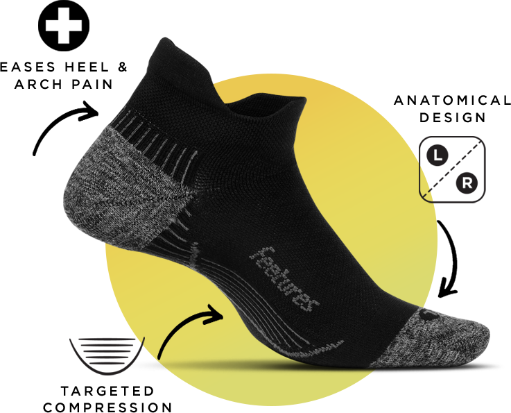 PF Relief - Targeted Compression, Anatomical Design, Eases heel and Arch pain