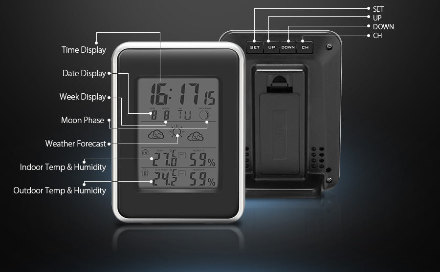 Full Featured Wireless Weather Station & Clock