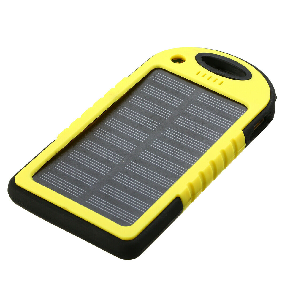 Waterproof Mini Solar Device Charger - 5000mAh - Dual USB Waterproof