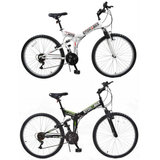 "Stowabike 26"" MTB V2 Folding Dual Suspension 18 Speed Shimano Gear Mountain Bike"