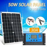 Flexible 20W Solar Panel Battery Charger Kit + Controller