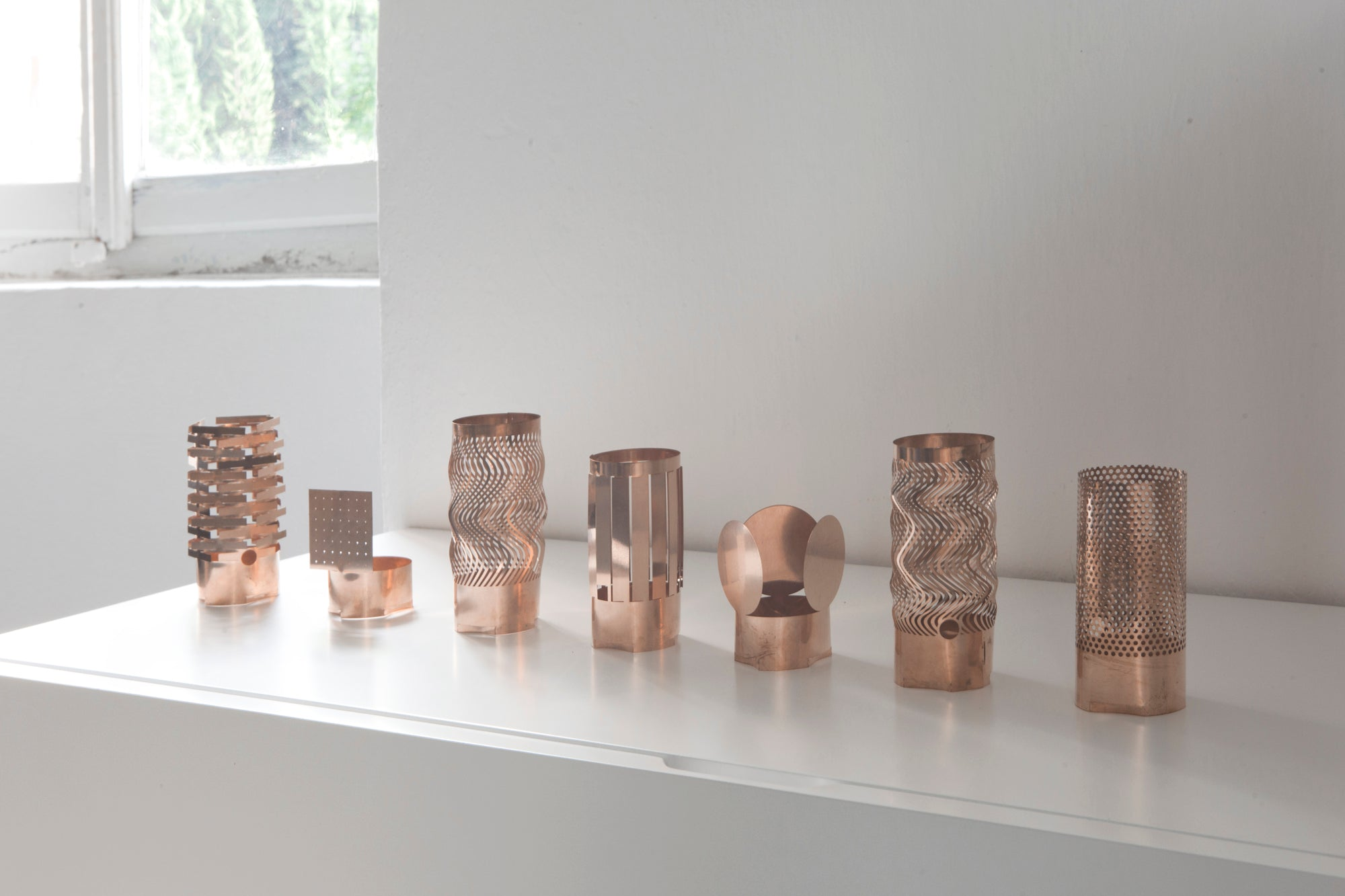 Metallodolce Ritualis bronze candle holders